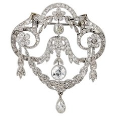 An Edwardian Diamond Festoon Brooch