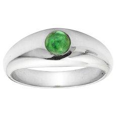 An Emerald Set Gypsy Ring