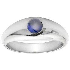 A Sapphire Set Gypsy Ring