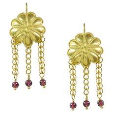A Pair Of Gold Rosette Earrings By Akelo