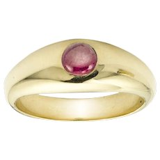 A Ruby Set Gypsy Ring