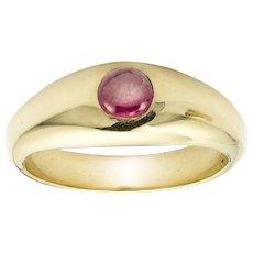 A Ruby Set Gypsy Ring