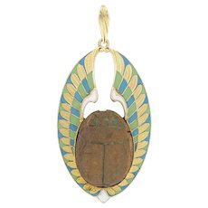 A Victorian Scarab Pendant