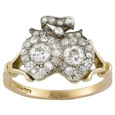 A Late Victorian Diamond Twin Heart Ring