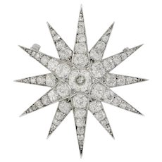 A Victorian Diamond-set Star Brooch