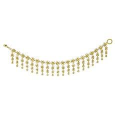 A Handmade Goldn Rain Bracelet By Lucie Heskett-Brem