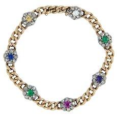 A Victorian Multi-gem Acrostic Bracelet