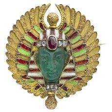An 19th Century Egyptian Revival Pharaoh Brooch