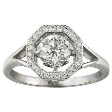 An Octagonal Diamond Cluster Ring