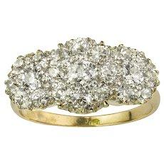 A Triple Cluster Diamond Ring