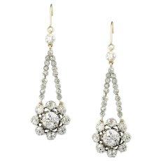 A Pair Of Georgian Diamond Pendant Earrings