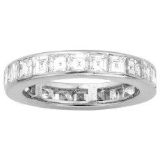 A Square-cut Diamond Set Full Eternity Ring
