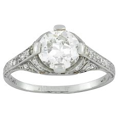 An Art-deco Diamond Solitaire Ring