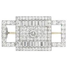 A French Art Deco Diamond Set Brooch By Lambert Frères