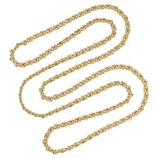 A 19th Century 18ct Gold Link Chain