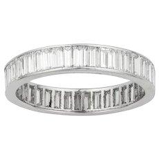 A Baguette-cut Diamond Full Eternity Ring