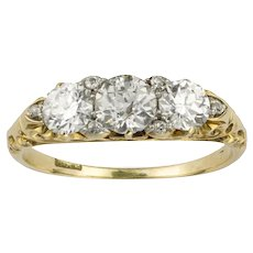 A Victorian Three Stone Diamond Ring