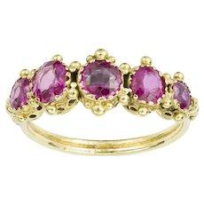 A Regency Pink Sapphire Ring