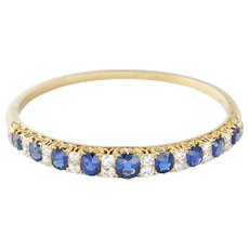 A Victorian Sapphire And Diamond Bangle