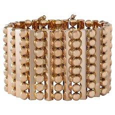 A Rose Gold Wide Flexible Cuff Bracelet