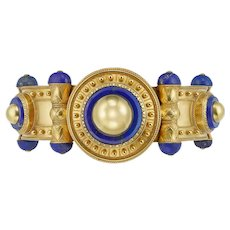 An Important Mid 19th Century Gold & Lapis Bangle By Cartier