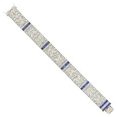 An Important Late Belle Époque Sapphire And Diamond Bracelet