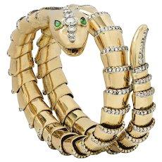 A Gold Coiled Snake Bracelet