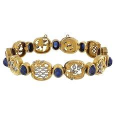 A Belle Epoque Sapphire And Diamond Bracelet