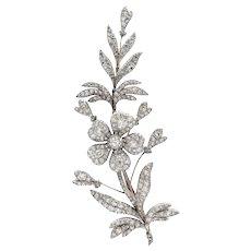 An Early Victorian Diamond Spray Brooch
