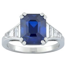 A Bentley & Skinner Sapphire And Diamond Ring
