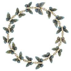 An Enamelled Butterfly Bracelet By Ilgiz F