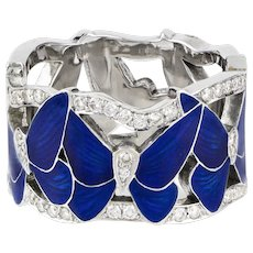 A midnight-blue butterfly ring by Ilgiz F