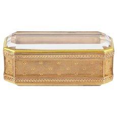 A Fabergé Rectangular Gold And Rock Crystal Box