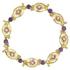 An Art Nouveau Flower Bracelet
