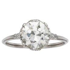 An Edwardian Single-stone Diamond Ring