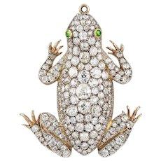 An Impressive Victorian Diamond-set Frog