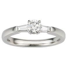 A Single Stone Diamond Solitaire Ring