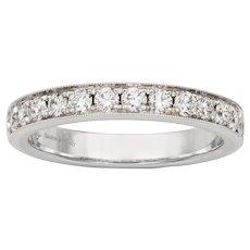 A Diamond-set Half Eternity Ring