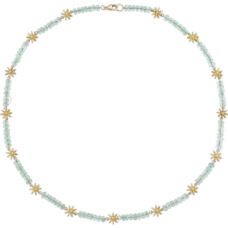 A Gold And Green Beryl Necklace By Lucie Heskett-Brem