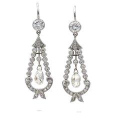 A Pair Of Diamond-set Drop Earrings