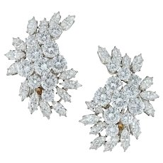 A Pair Of Diamond Clip Earrings