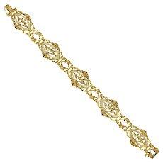 A Belle Époque Gold And Enamel Bracelet