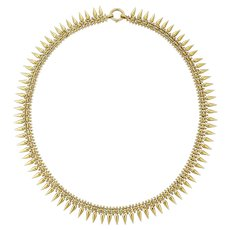A Victorian Archaeological Revival Gold Necklace