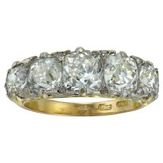 A Late Victorian Five-stone Diamond Ring
