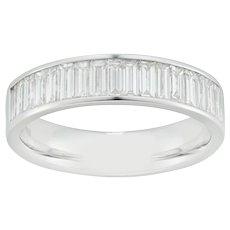 A Baguette-cut Diamond-set Half Eternity Ring