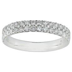 A Double-row Diamond Half Eternity Ring