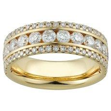 A Triple Row Diamond Half Eternity Ring