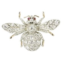 A Diamond Bee Brooch Made By Bentley & Skinner
