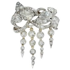 A Mid-19th Century Diamond Brooch