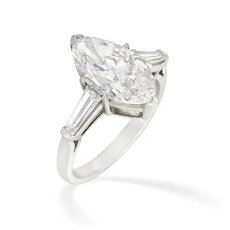 A Marquise-cut Solitaire Diamond Ring